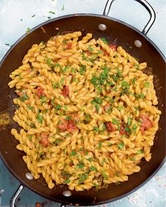 Nigella's Anchovy and Gemelli Pasta coated in a creamy Mascarpone and Tomato Sauce is a spicy midweek recipe from her new BBC series, At My Table. This quick, easy and utterly delicious pasta dish uses gemelli - a robust short pasta shape made out of a single rope of pasta, doubled back on itself. But if you can't get you hands on some and have an open bag of fusilli in the cupboard, you will still be in for a treat.