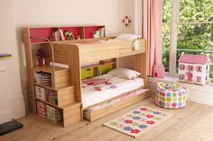 I LOVE this bunk bed! ~Cool rooms for your kids, peace and quiet for you