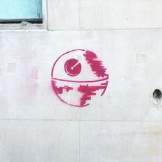 The empire is everywhere Death Star, Starwars, Street Art, Empire, Instagram Posts, Star Wars