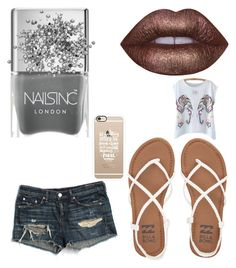 """Untitled #977"" by jaimie-lynn-1 ❤ liked on Polyvore featuring rag & bone/JEAN, Casetify, Lime Crime, Billabong and Nails Inc."