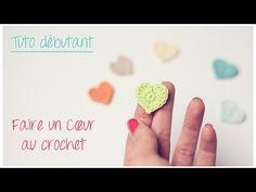 Mini coeur au crochet pour débutant / Crochet an easy tiny heart - YouTube