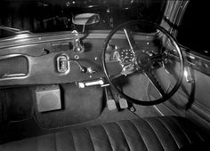 Citroen and Armstrong Giddelly car radios in Citroen car? for AWA. Max Dupain photo, c 1950.