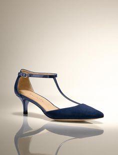 Talbots - Dayna Suede T-Strap Kitten-Heel | Heels | Medium