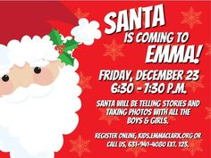This just in...from the NorthPole! Register at emmaclark.org #ThreeVillage #SantaIsComing #SantaLovesLibraries #AndReading #EmmaKids