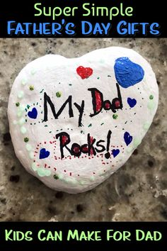 Super simple fathers day gifts from kids - easy Father's Day crafts for kids to make as gifts for Dad on Fathers Day or dads birthday