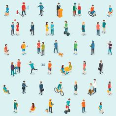Isometric People Set by Antikwar on Creative Market - Drone Showers People Illustration, Business Illustration, Pencil Illustration, Illustrations, Graphic Illustration, Digital Illustration, Web Design, Graphic Design, Icon Design