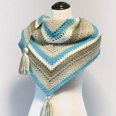 Free Shawl Crochet Pattern by Petals to Picot Caron Cakes Cake Pop Yarn