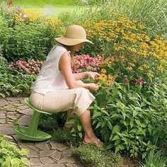 How much more would you enjoy gardening if you didn't have to kneel in the dirt to do it?