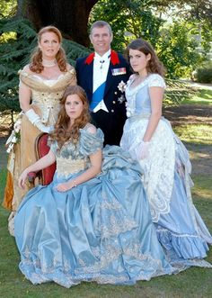 Princess Beatrice with her family before a ball to mark her 18th birthday