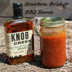 Bourbon Brisket BBQ Sauce! The perfect sauce for that Texas style smoked brisket.