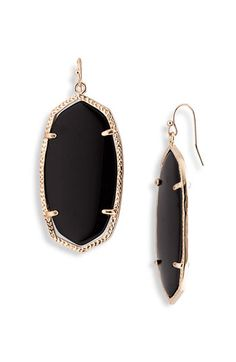 I really really love these earrings! They're onsale at @Nordstrom! Can't decide between black, green or white.