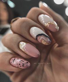 Chic Nails, Trendy Nails, Swag Nails, Gel Nails, Manicure, Cute Nail Colors, Almond Nail Art, Nail Techniques, Classic Nails