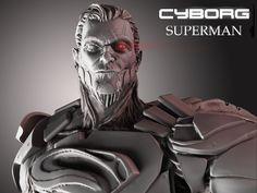 ArtStation - Cyborg Superman, Nicolas Guay Steel Dc, Man Of Steel, Comic Villains, Zbrush, Cyberpunk, Superman, Comic Art, Deadpool, Dc Comics