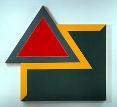 Frank Stella   Chocorua IV, 1966, fluorescent alkyd and epoxy paints on canvas, 120 x 128 x 4 in   Hood Museum of Art, Dartmouth College