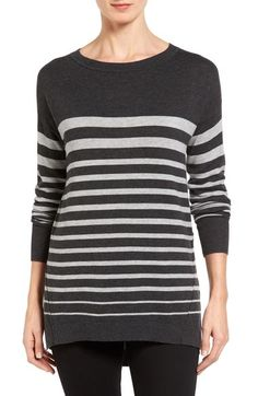 Caslon® Zip Back High/Low Tunic Sweater (Regular & Petite) available at #Nordstrom