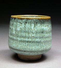 Handmade Tenmoku and Nuka Glazed Yunomi Tea Cup with by shyrabbit