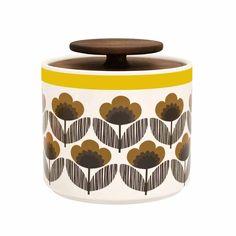Orla Kiely Brown Small 1L Storage Jar