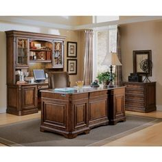 Brookhaven 75.5W Traditional Hutch #traditionaloffice | National Business Furniture