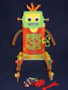 """Herbst - Laterne """"Roboter"""" Martinslaterne 3D Elemente - ein Designerstück von Wonderful-Paper-Art bei DaWanda"""