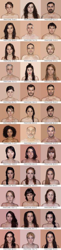 // Pantone Skin Tones Project