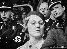 Unity Mitford at Nuremburg rally An English aristocratic beauty passionately devoted to Hitler.