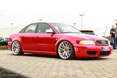 Audi S4: Das rote Monster vom Saunaclub  http://www.autotuning.de/audi-s4-das-rote-monster-vom-saunaclub/ A4, Audi A4, Audi B5, Audi RS4, Audi S4, Audi Tuning News, B5, RS4, S4