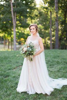 Dreamy blush illusion neckline wedding dress:  Photography: Carretto Photo - http://www.carrettophoto.com/