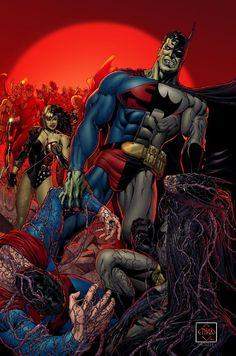 #Superman #Batman #Fan #Art. (DAY OF THE COMPOSITES) By: Ethan Van Sciver. ÅWESOMENESS!!!™ ÅÅÅ+