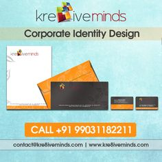 Corporate #Identity #Design. Contact us for more details @ +91 9163363931 Website: www.kre8iveminds.com