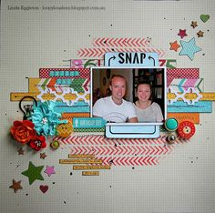 Lou's World: Jillibean Soup - Birthday Bisque for All About Scrapbooks/Scrap365 June sketch