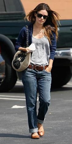Slouchy Tee Shirt with Flats