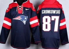 Rob Gronkowsi #87 New England Patriots NFL pullover hoodie by Nike