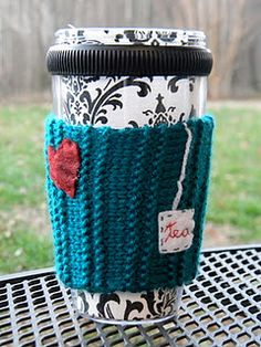 Another one of the mug cozies I made... featuring a little heart and tea bag! :)
