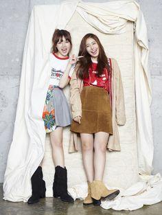 Korean photoshoots Yerin & SinB (G-Friend) - MAPS Magazine October Issue Fashion Mag, Kpop Fashion, Korean Fashion, Womens Fashion, Female Fashion, Sinb Gfriend, G Friend, Covergirl, Girl Power