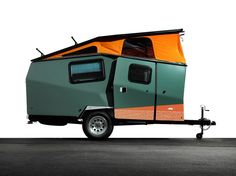 If this Cricket Trailer recalls a newfangled lunar lander, no surprise: The designer, Garrett Finney, used to work for NASA, creating habitation modules for the International Space Station. Finney is accustomed to packing a lot of stuff into small spaces—in this case, a stainless steel sink, refrigerator, and dining table (crickettrailer.com