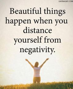 Well Said Quote About Distance vs.Negativity