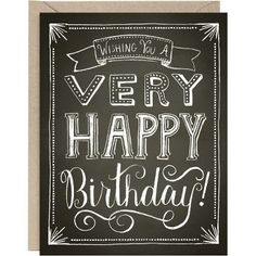 Chalkboard Happy Birthday Card
