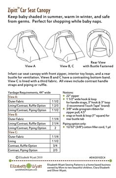 My popular Zipitt Car Seat Canopy pattern is now available as a DIGITAL PDF DOWNLOAD.  sc 1 st  Pinterest & Car Seat Canopy - VERY WELL EXPLAINED TUTORIAL! | Titus ...