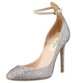 Crystal-Covered Tango Stiletto Pump by Valentino