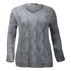 Pull torsadé col V 3 coloris disponibles  : gris / marron / noir Du 48 au 54 24.95€