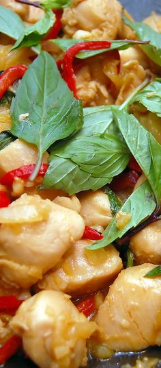 Thai Basil Chicken. If you've enjoyed Thai Basil Chicken at your local Thai/Asian restaurants and eateries, try this wonderful homemade recipe!l
