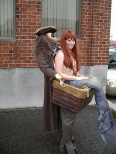 kidnapped mermaid costume how-to  the pirate is kinda creepy though...