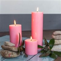 Pink Pillar Candles - Pink brings to mind Spring, Baby Showers, and Easter decorating!  Enjoy this clean burning, smooth, 100% paraffin wax, unscented candle in your space for 30 - 90 hours of burn time! Pink Candles, Pillar Candles, Corgi Funny, Paraffin Wax, Easter, Baby Showers, Smooth, Wedding, Decorating