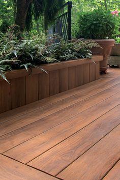 Pecan deck, skirt planter Zuri Photo Gallery Filtered | Zuri Decking