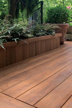 Pecan deck, skirt planter Zuri Photo Gallery Filtered | Zuri Decking