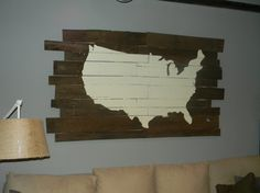 Pallet Wood USA Map  Large by farraigeDOM on Etsy, $325.00