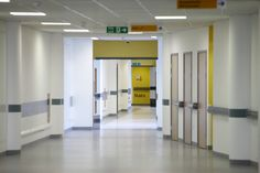 Inside images of hospital corridor.