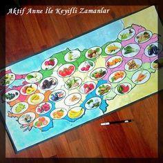 Tutum Yatırım Ve Yerli Malı Haftası pano, materyaller, Türkiye haritası, boyama sayfaları, meyvalar, şablon
