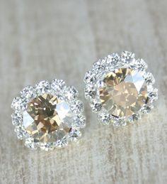 Champagne earrings............they remind me of Catherine Zeta Jones