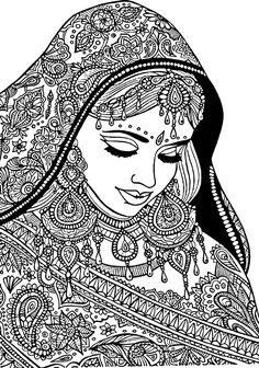 ilustración de mujer hindú - Buscar con Google